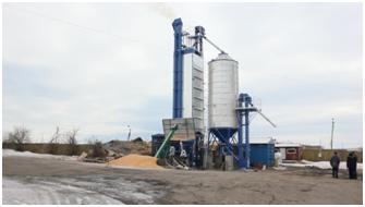 A new grain drying complex KZS-10 in Odessa region was launched