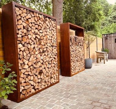 Деревянный ящик цвета ржавчины 150x38,5x150 см