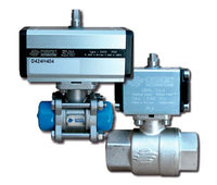 Ball valve with pneumatic drive to liquid dispensers