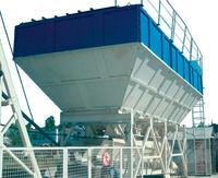 Storage and weighing batchers of inert materials