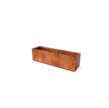 Кашпо Artesa цвета ржавчины 150x40x40 см