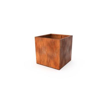 Кашпо Квадра цвета ржавчины 70x70x70 см