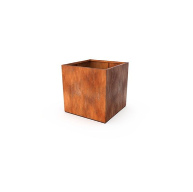 Кашпо Квадра ржавого цвета 80x80x80 см